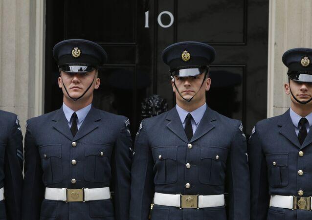 Members of the Royal Air Force guard