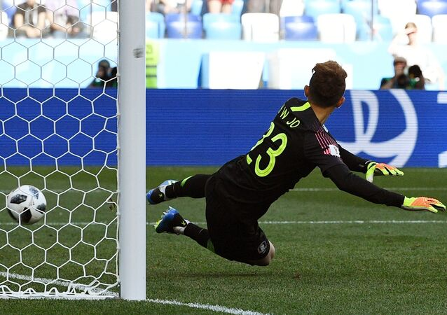 Sweden forward Marcus Berg said on Monday the penalty they were awarded in their World Cup match against South Korea was obvious.