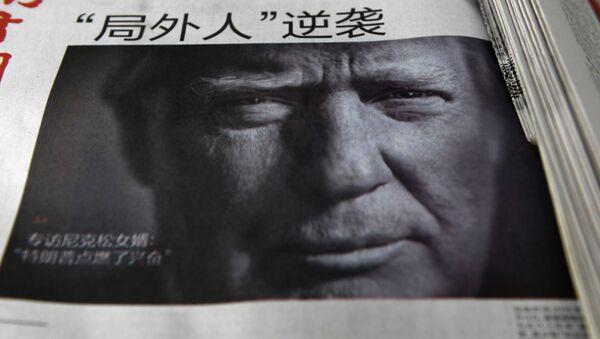 Zeitung mit Donald Trump auf der Titelseite in China - Sputnik International
