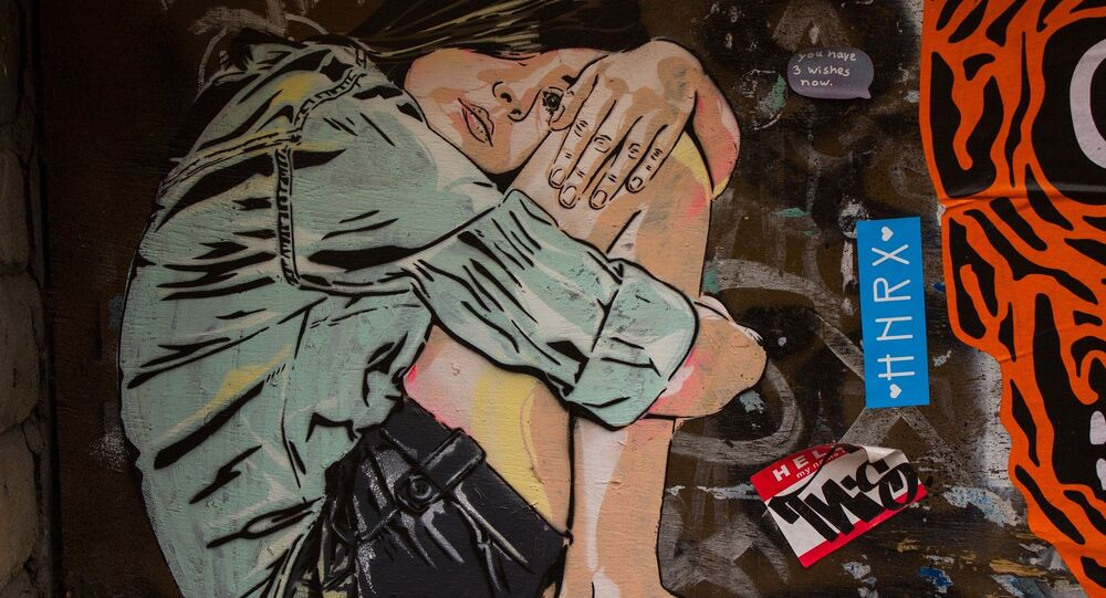 UK Graffiti Street Art Girl