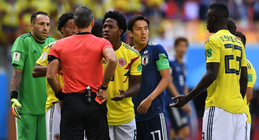 Colombia midfielder Sanchez picks up first red card of 2018 FIFA World Cup