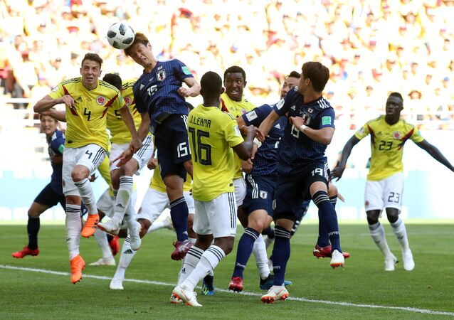 Soccer Football - World Cup - Group H - Colombia vs Japan - Mordovia Arena, Saransk, Russia - June 19, 2018 Japan's Yuya Osako scores their second goal