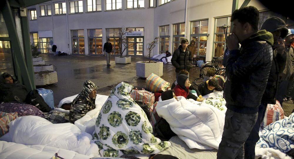 Migranten in Malmo, Schweden