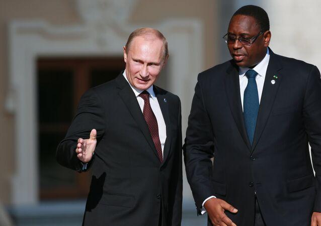 Russian President Vladimir Putin, left, and Macky Sall, president of Senegal (File)