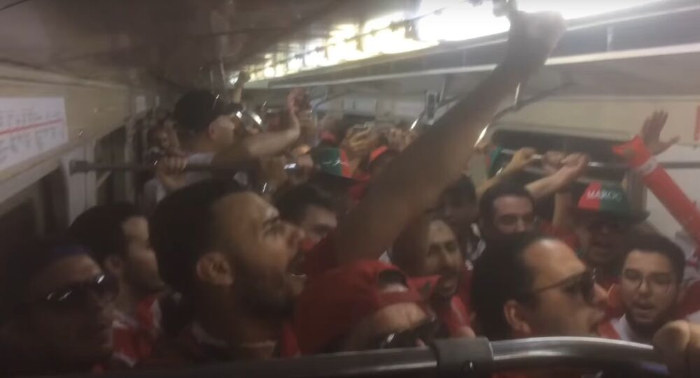 Moroccan Fans On The Way To Morocco Vs Portugal Game