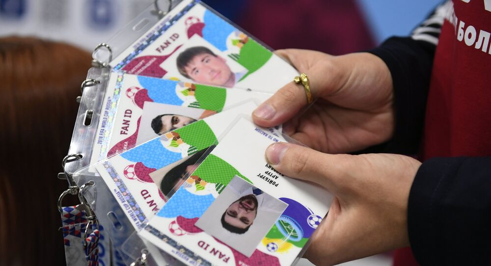 The opening of a 2018 FIFA World Cup Fan ID distribution center, Moscow. File photo