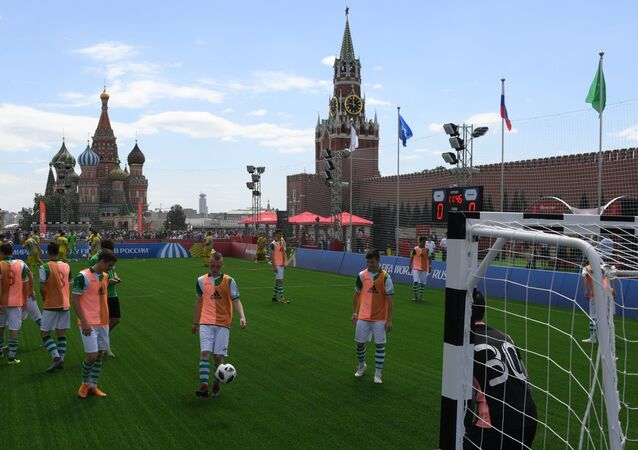 Football Park World Cup 2018 on Red Square in Moscow