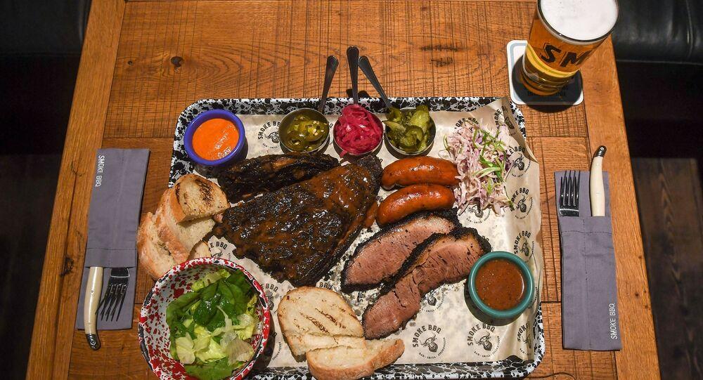 Smoke BBQ's BBQ platter