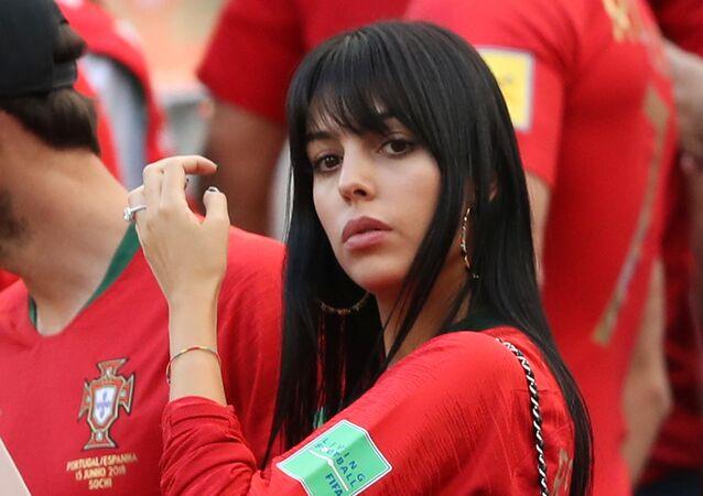 Soccer Football - World Cup - Group B - Portugal vs Morocco - Luzhniki Stadium, Moscow, Russia - June 20, 2018 Georgina Rodriguez, girlfriend of Portugal's Cristiano Ronaldo, after the match