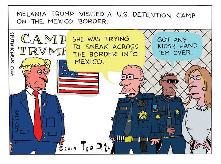 FLOTUS Flees to the Border