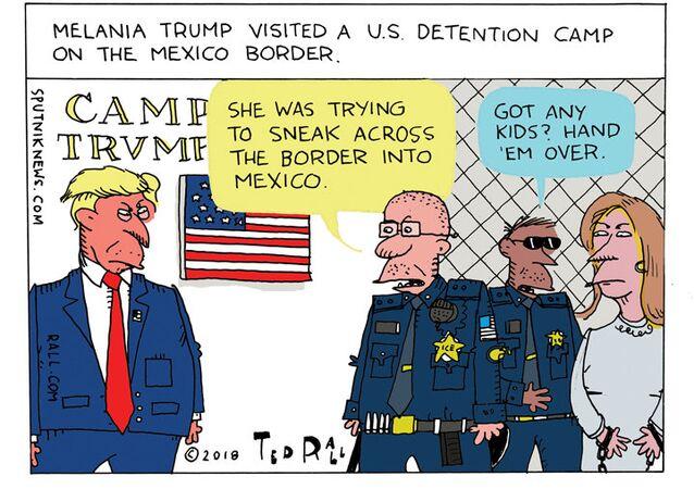 FLOTUS Flees to the Border
