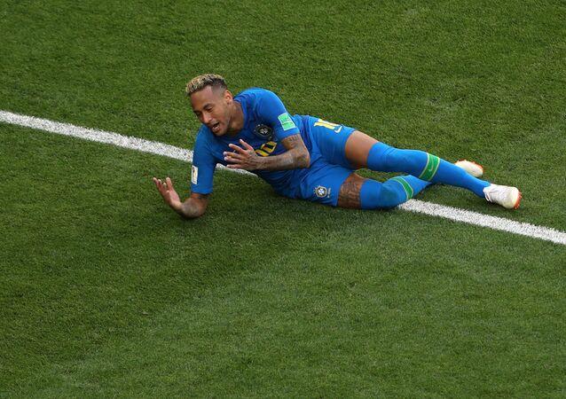 Soccer Football - World Cup - Group E - Brazil vs Costa Rica - Saint Petersburg Stadium, Saint Petersburg, Russia - June 22, 2018 Brazil's Neymar reacts