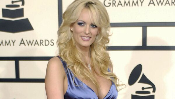 In this Feb. 10, 2008 file photo, adult film star Stormy Daniels arrives at the 50th Annual Grammy Awards in Los Angeles - Sputnik International