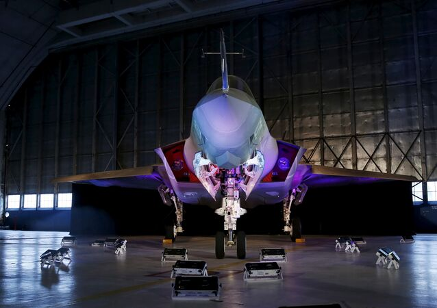 A Lockheed Martin F-35 Lightning II fighter jet is seen in its hanger at Patuxent River Naval Air Station in Maryland, U.S., October 28, 2015