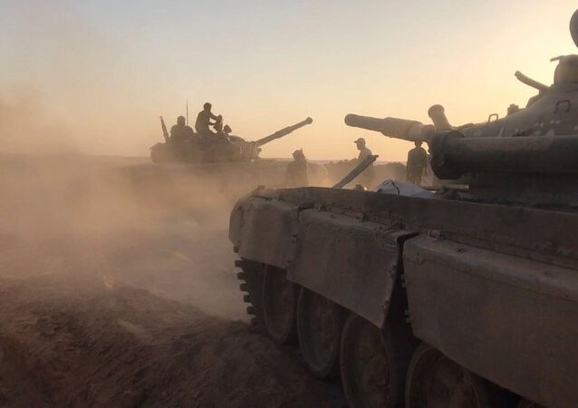 Tanks of the Syrian Army at combat positions. File photo