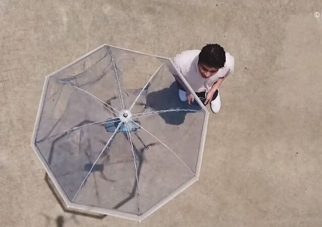 Only in Japan: This $275 floating umbrella will keep you dry in the sky!