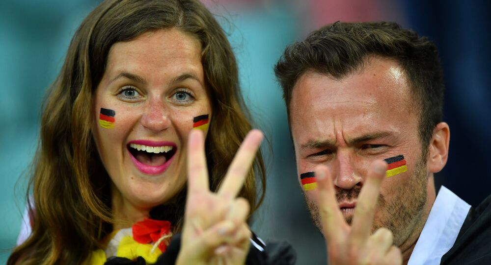 World Cup - Group F - Germany vs Sweden - Fisht Stadium, Sochi, Russia - June 23, 2018 Germany fans inside the stadium before the match