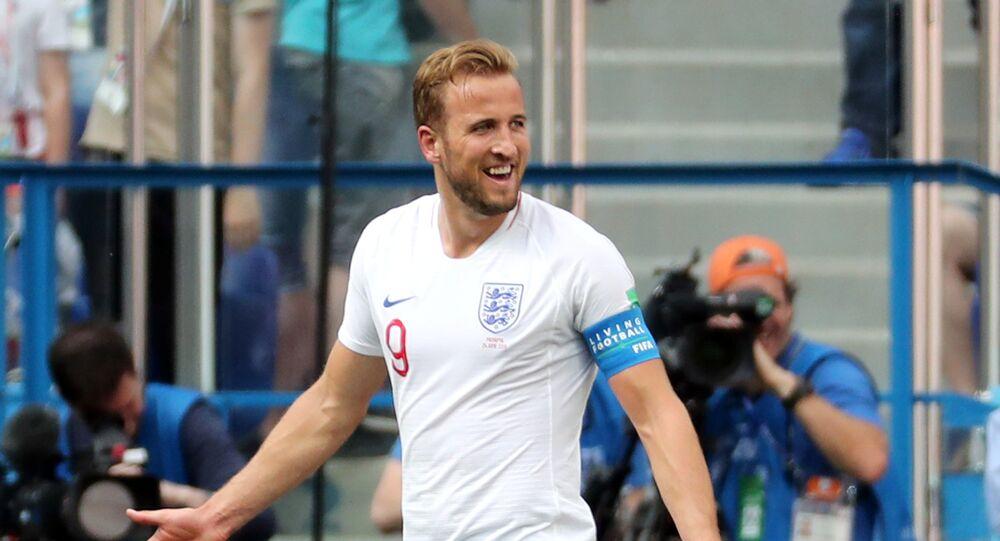 Soccer Football - World Cup - Group G - England vs Panama - Nizhny Novgorod Stadium, Nizhny Novgorod, Russia - June 24, 2018 England's Harry Kane reacts