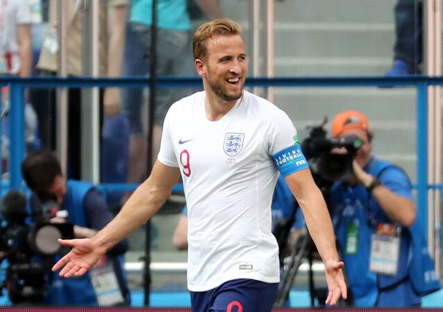 Soccer Football - World Cup - Group G - England vs Panama - Nizhny Novgorod Stadium, Nizhny Novgorod, Russia - June 24, 2018 England's Harry Kane reacts