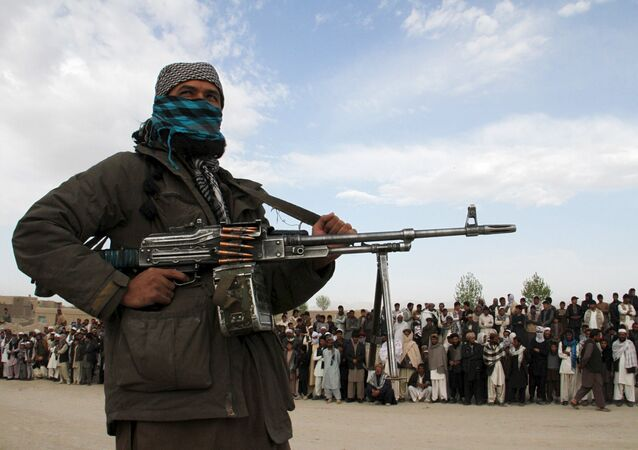 A member of the Taliban insurgent