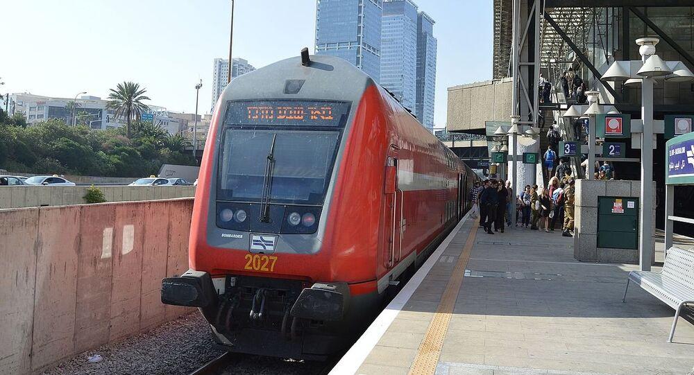 Israel Tel Aviv Hashalom station train (File)