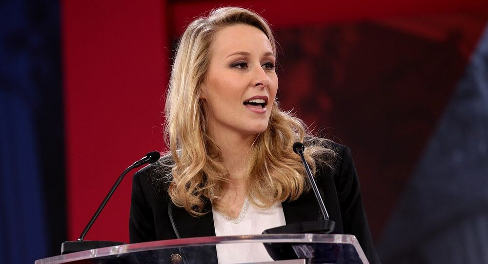 Marion Maréchal-Le Pen speaking at the 2018 Conservative Political Action Conference (CPAC) in National Harbor, Maryland. File photo