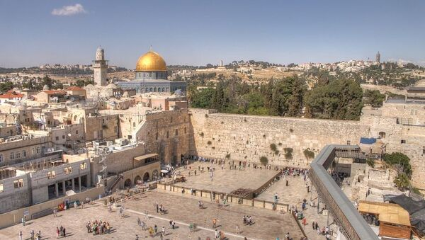 The Western Wall and Dome of the rock in the old city of Jerusalem - Sputnik International