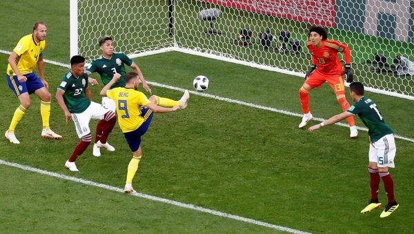 Soccer Football - World Cup - Group F - Mexico vs Sweden - Ekaterinburg Arena, Yekaterinburg, Russia - June 27, 2018 Sweden's Marcus Berg misses a chance to score - Sputnik International
