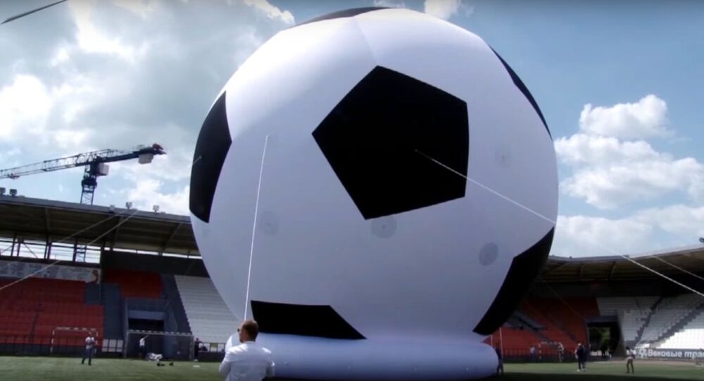 Russia: Gigantic Ball Inflated in Chelyabinsk