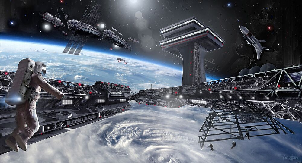 Concept of the first-ever space state of Asgardia