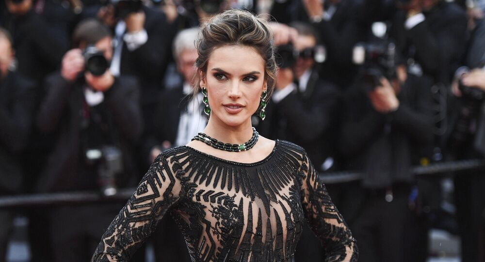 Model, actress Alessandra Ambrosio on the red carpet of the 71st Cannes Film Festival