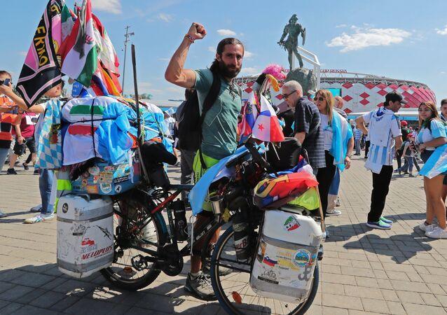 Argentine cyclist Matyas Amaya