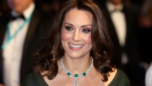 Britain's Catherine, Duchess of Cambridge smiles as she attends the BAFTA British Academy Film Awards at the Royal Albert Hall in London on February 18, 2018 - Sputnik International