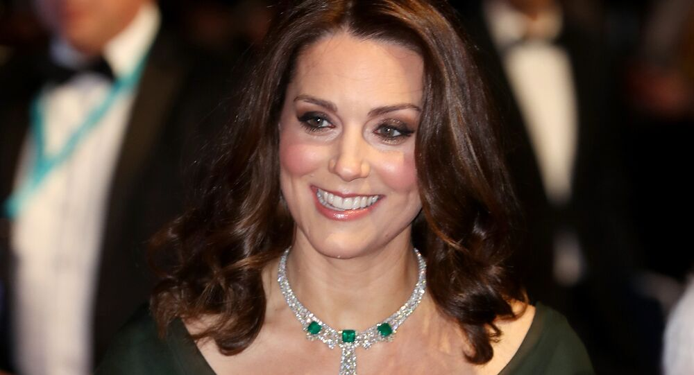 Britain's Catherine, Duchess of Cambridge smiles as she attends the BAFTA British Academy Film Awards at the Royal Albert Hall in London on February 18, 2018