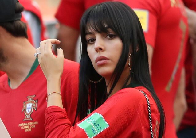 World Cup - Group B - Portugal vs Morocco - Luzhniki Stadium, Moscow, Russia - June 20, 2018 Georgina Rodriguez, girlfriend of Portugal's Cristiano Ronaldo, after the match