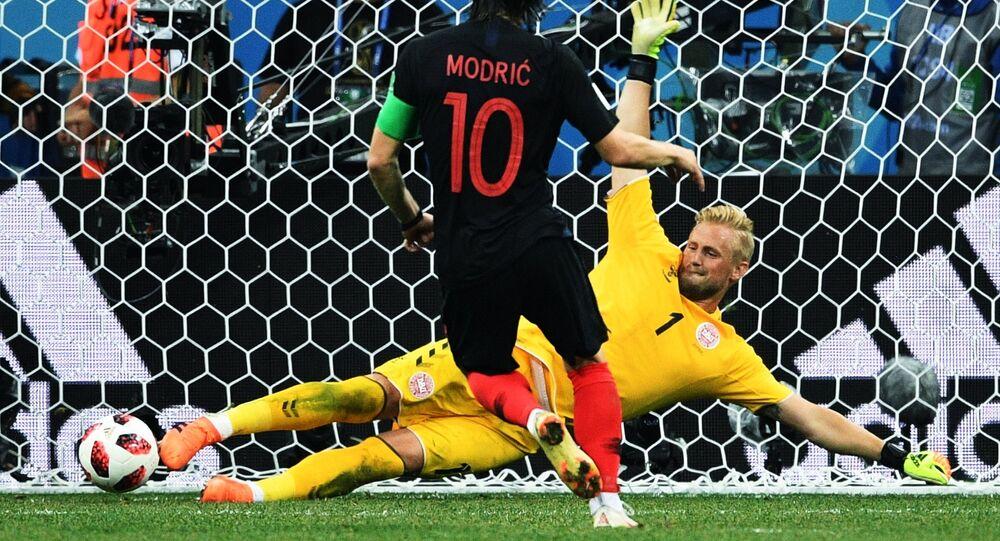 Football. World Cup-2018. Croatia-Dania match