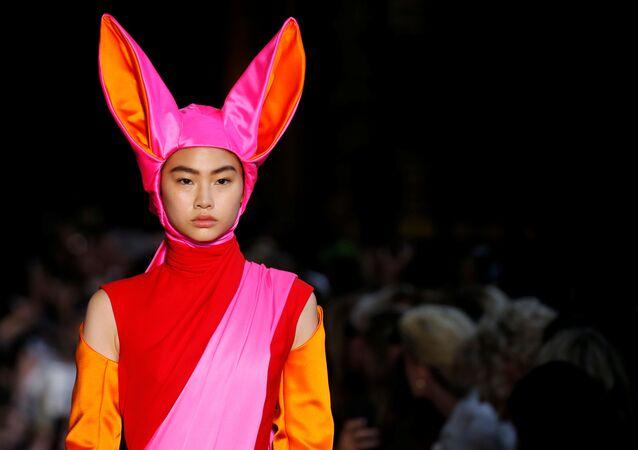 Schiaparelli's Model at Paris Haute Couture Fashion Week