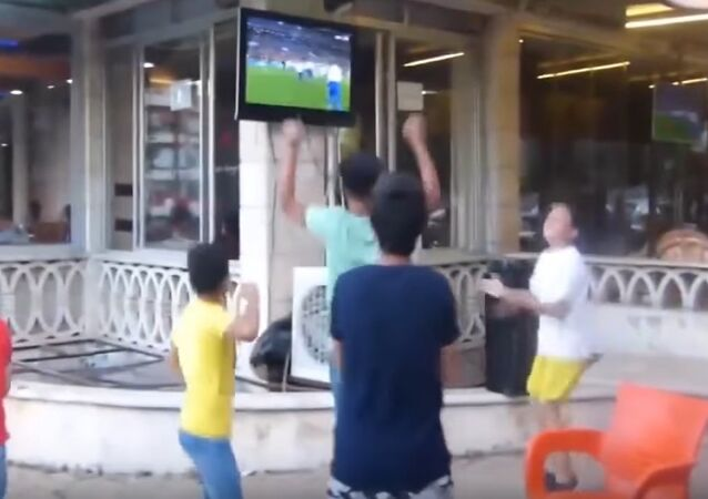 World Cup 2018: Syrians Celebrate Russian National Team's Victory Against Spain
