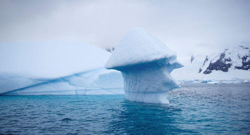 An iceberg floats near Danco Island, Antarctica, Feb. 14, 2018