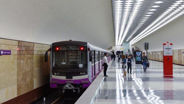 The platform at the Metro Station Avtovokzal in Baku - Sputnik International