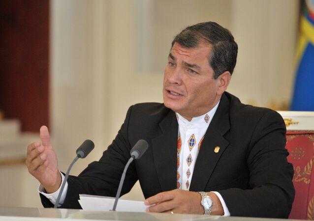 Rafael Correa, former president of Ecuador