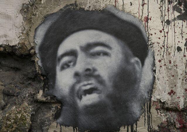 Abu Bakr al Baghdadi, painted portrait