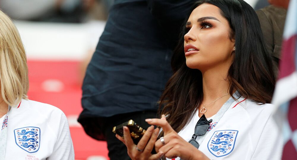 Soccer Football - World Cup - Round of 16 - Colombia vs England - Spartak Stadium, Moscow, Russia - July 3, 2018 Ruby Mae, girlfriend of England's Dele Alli, before the match