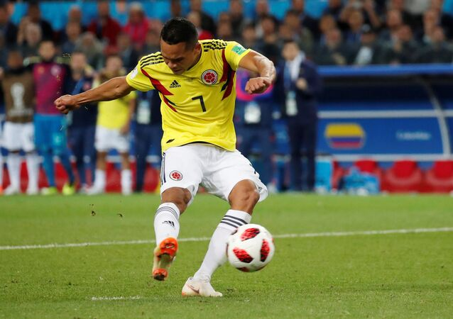 Soccer Football - World Cup - Round of 16 - Colombia vs England - Spartak Stadium, Moscow, Russia - July 3, 2018 Colombia's Carlos Bacca misses a penalty during the shootout