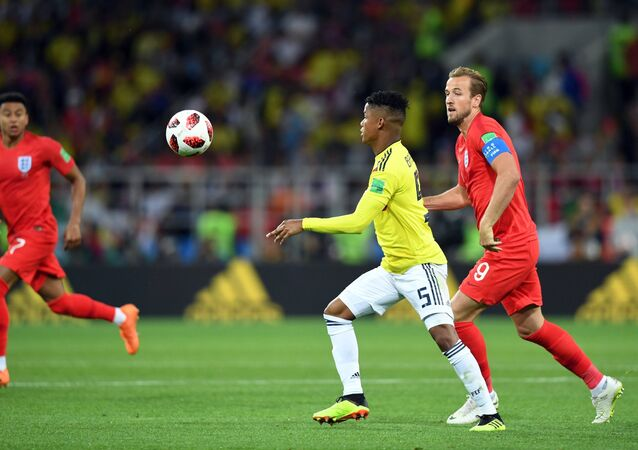 FIFA World Cup 2018, Round of 16, Colombia - England, July 3, Spartak Arena in Moscow
