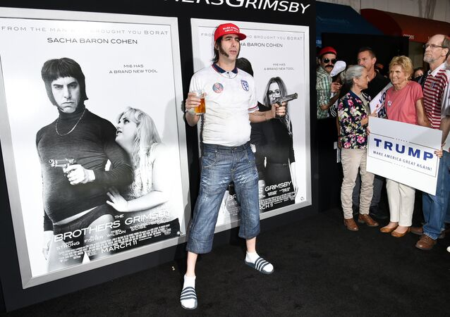 Actor Sacha Baron Cohen attends the LA Premiere of The Brothers Grimsby held at the Regency Village Theatre on Thursday, March 3, 2016, in Los Angeles