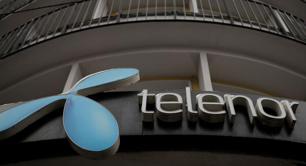 Telenor's logo is seen in central Belgrade, Serbia, March 21, 2018