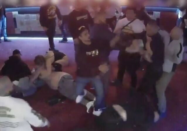 Surveillance footage shows a group of Comanchero, at Capital Mens Club early on August 20, 2017, when the shirts came off and a wild brawl erupted