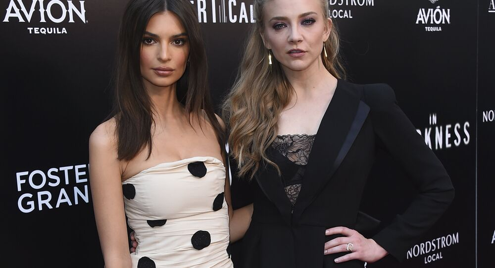 Emily Ratajkowski and Natalie Dormer attend the Los Angeles premiere of In Darkness at the Arclight Hollywood on May 23, 2018.
