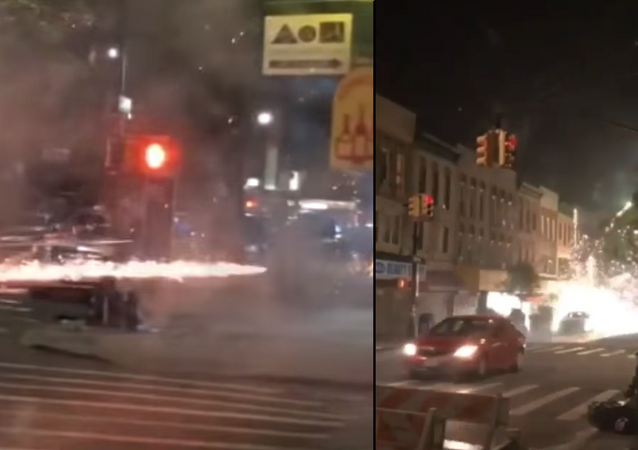 WATCH: Pedestrians Scatter as Woman Launches Roman Candles Down New York Street